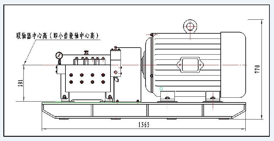 LFB2-S高压清洗机技术参数  机组外形尺寸(mm)  单泵重量:420KG 机组重量:约950KG(视电机功率大小) 设备特性:该泵体积小,结构紧凑,动力端采用飞溅润滑,外部加装机油冷却器,适合长时间运行。 应用领域:适用于各类工业管道清洗、表面清洗、船舶外部清、工件清砂等。 标准配置:高压泵、调压阀、安全阀、电机(柴油机)、不锈钢水箱、电器控制柜、钢制底架。 附件配置:脚踏控制阀、高压水枪、高压胶管、各类管道喷头、平面喷嘴等。 驱动形式:普通电机、变频电机、防爆电机、柴油机。 机组形式:固定式、移